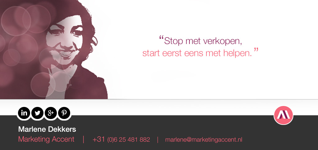 Marlene Dekkers, B2B Marketing Accent quote
