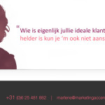 Quote ideale klanten Marketing Accent - Marlene Dekkers